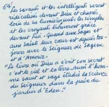 Manuscrito de L. Cattiaux